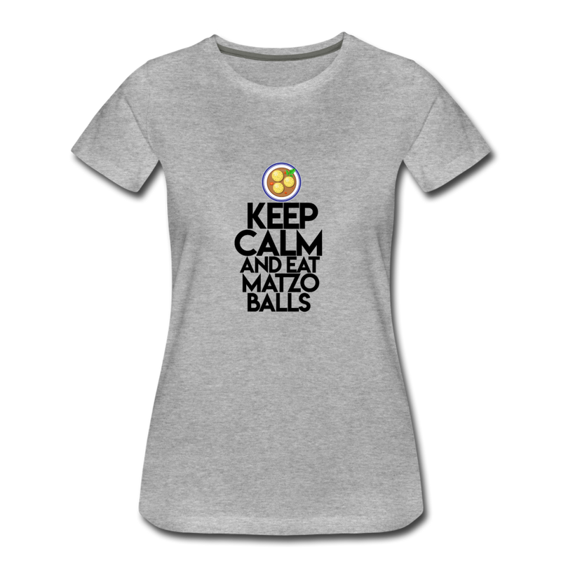 Matzo Balls Women's Premium T-Shirt - heather gray