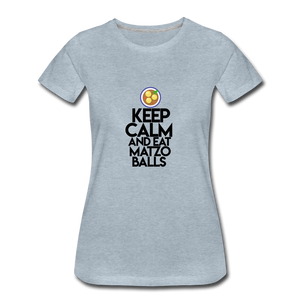 Matzo Balls Women's Premium T-Shirt - heather ice blue