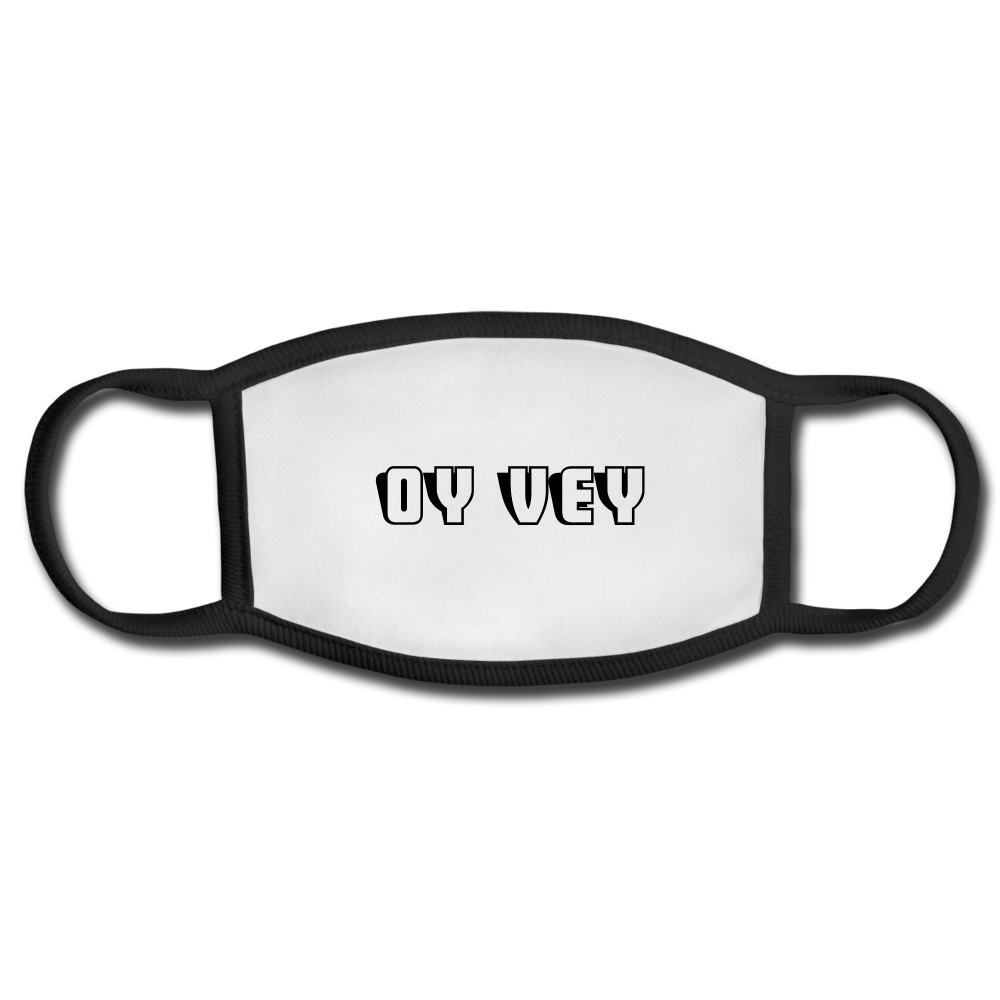 OY VEY Face Mask - white/black