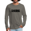 Mensch Men's Premium Long Sleeve T-Shirt - asphalt gray