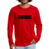 Mensch Men's Premium Long Sleeve T-Shirt - red