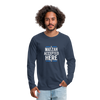 Matzah Accepted Here Men's Premium Long Sleeve T-Shirt - navy