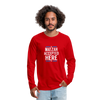 Matzah Accepted Here Men's Premium Long Sleeve T-Shirt - red