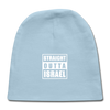 Straight Outta Israel Baby Cap - light blue
