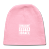 Straight Outta Israel Baby Cap - light pink