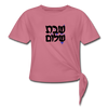 Nice Naughty Jewish Women's Longer Length Fitted Tank