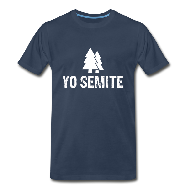 Yo Semite Men's Premium T-Shirt - navy