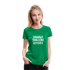 Shabbat Shalom Bitches Women's Premium T-Shirt - kelly green