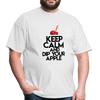 Keep Calm and Dip Your Apple Men's T-Shirt - white