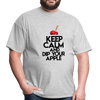 Keep Calm and Dip Your Apple Men's T-Shirt - heather gray