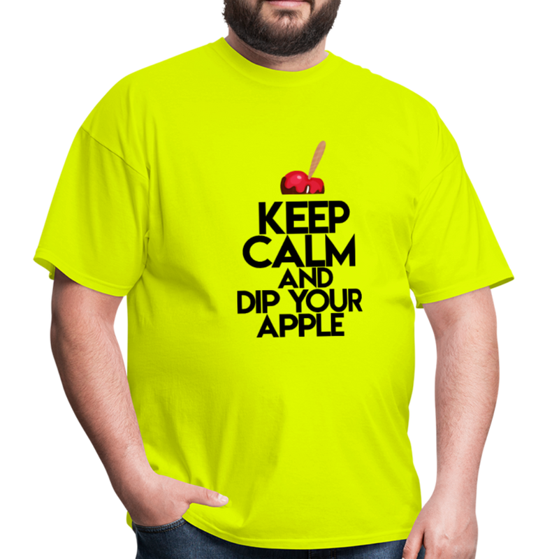 Keep Calm and Dip Your Apple Men's T-Shirt - safety green