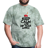Keep Calm and Dip Your Apple Men's T-Shirt - military green tie dye