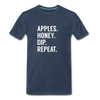 Apples Honey Dip Repeat Men's Premium Organic T-Shirt - navy