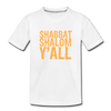 Shabbat Shalom Y'all Toddler Premium Organic T-Shirt - white