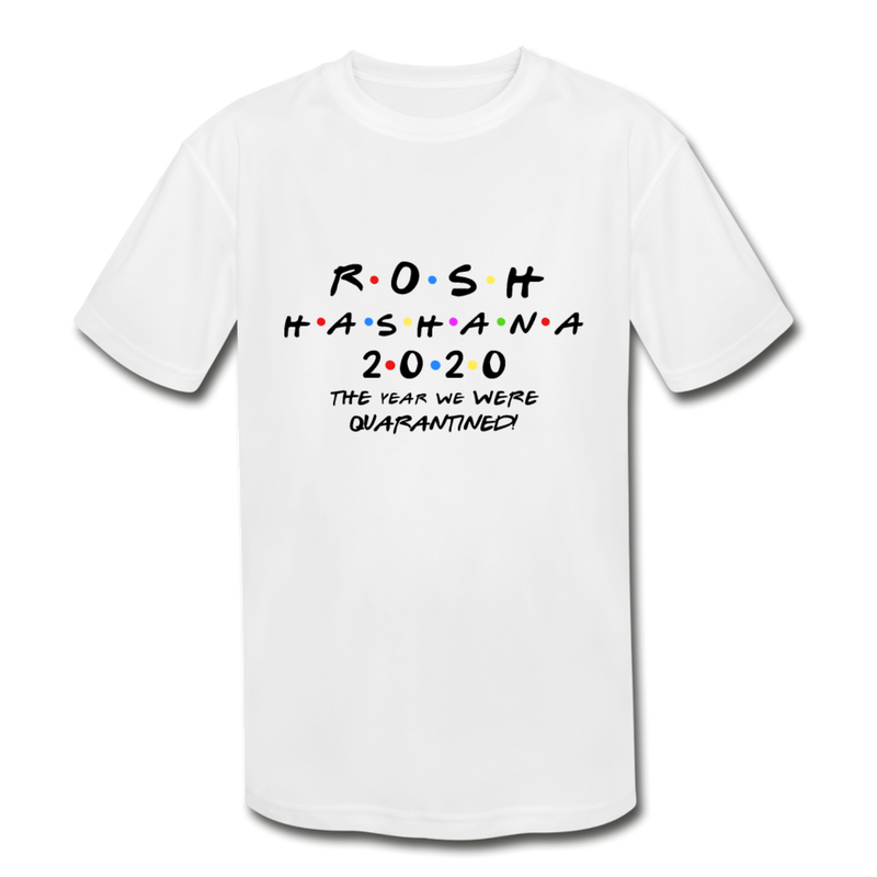 Rosh HaShana Kids' Moisture Wicking Performance T-Shirt - white