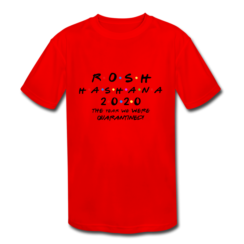 Rosh HaShana Kids' Moisture Wicking Performance T-Shirt - red