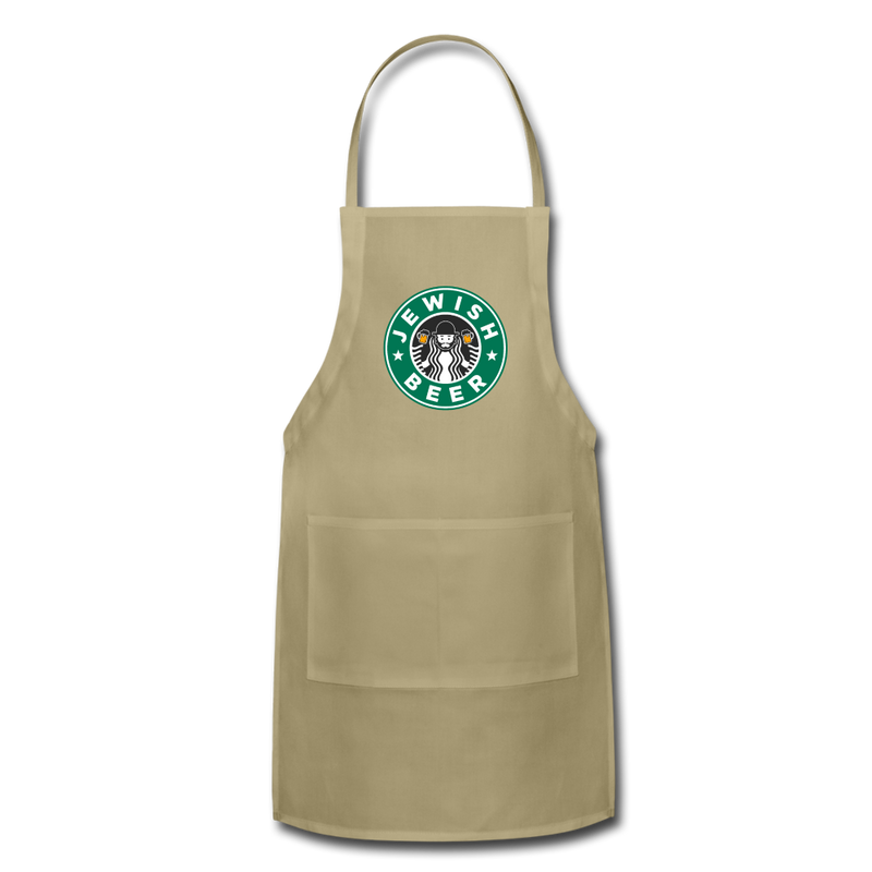 Jewish Beer Adjustable Apron - khaki