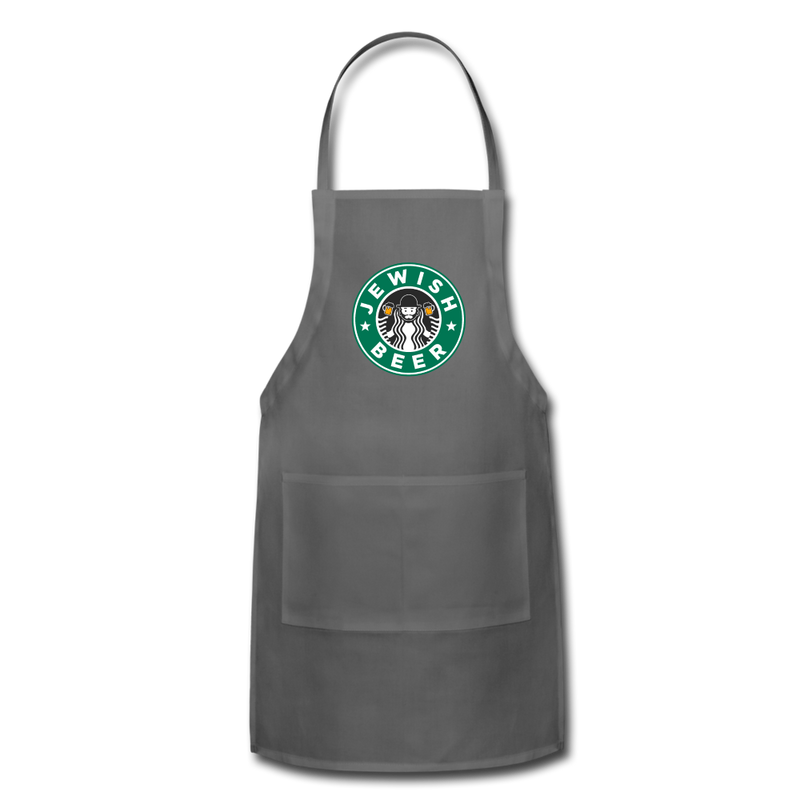 Jewish Beer Adjustable Apron - charcoal