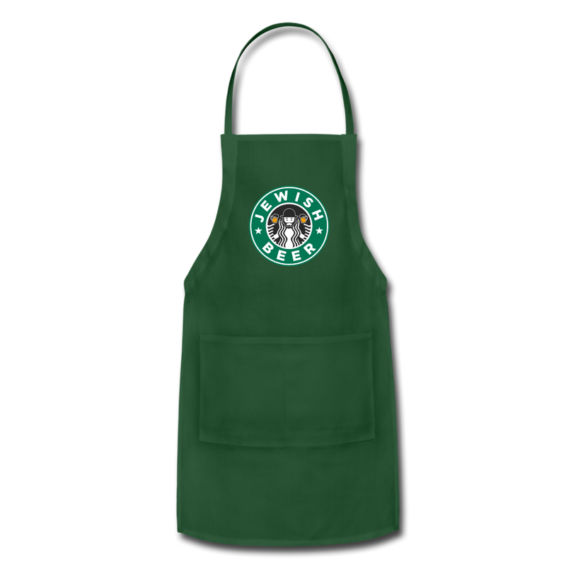 Jewish Beer Adjustable Apron - forest green
