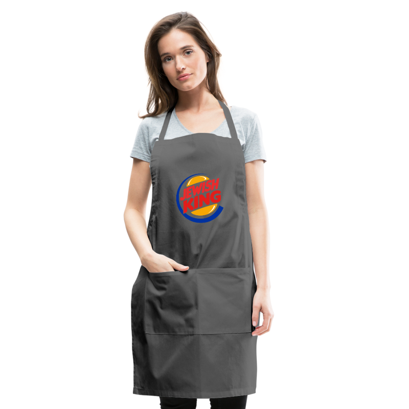 Jewish King Adjustable Apron - charcoal