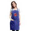 Jewish King Adjustable Apron - royal blue