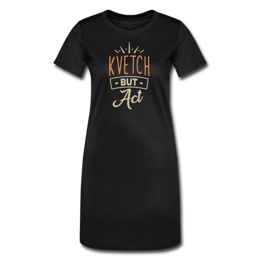 Kvecht But Act Women's T-Shirt Dress - black