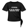 Shalom is it me you're looking for Women's Knotted T-Shirt - black