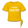 Shalom is it me you're looking for Women's Knotted T-Shirt - sun yellow