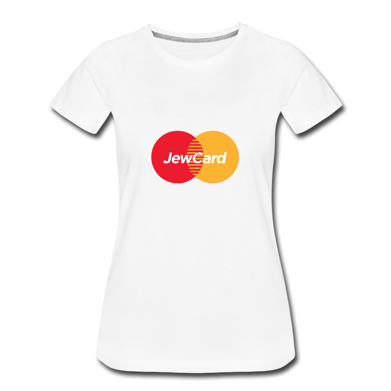 Jew Card Women's Premium T-Shirt - white