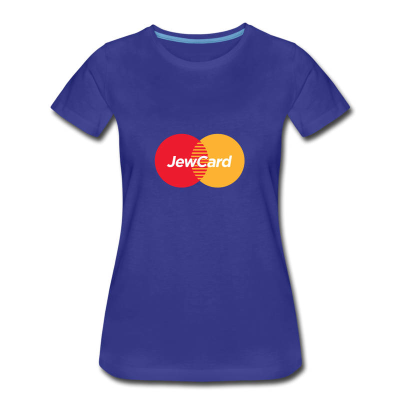 Jew Card Women's Premium T-Shirt - royal blue