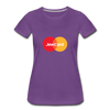 Jew Card Women's Premium T-Shirt - purple