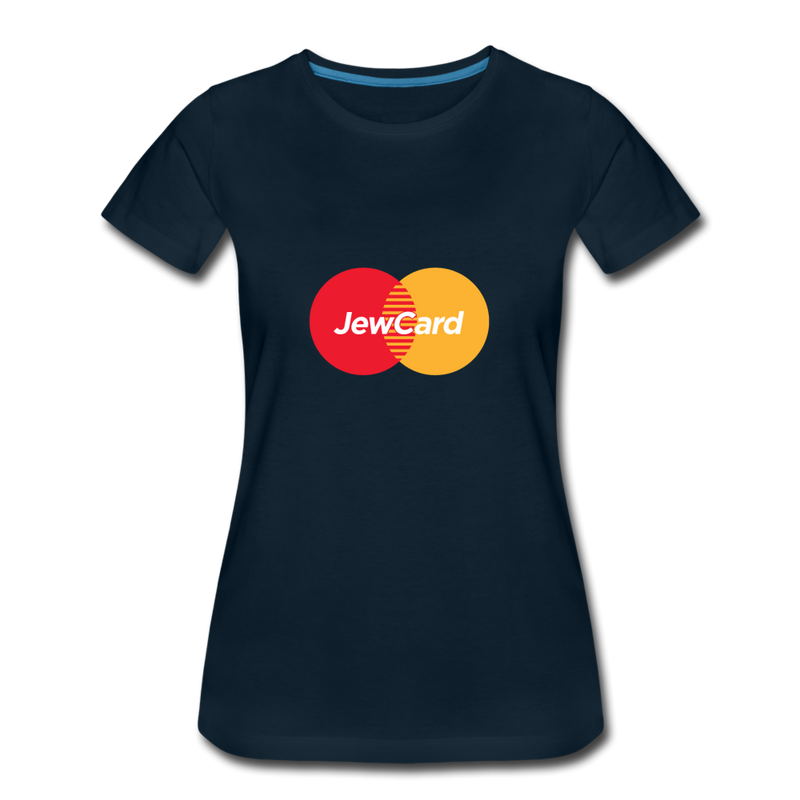 Jew Card Women's Premium T-Shirt - deep navy