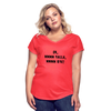 MMMM YALLA BYE Women's Tri-Blend V-Neck T-Shirt - heather red