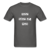 Just Shut Up Man Unisex Classic T-Shirt | Fruit of the Loom - charcoal