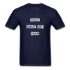 Just Shut Up Man Unisex Classic T-Shirt | Fruit of the Loom - navy