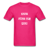 Just Shut Up Man Unisex Classic T-Shirt | Fruit of the Loom - fuchsia