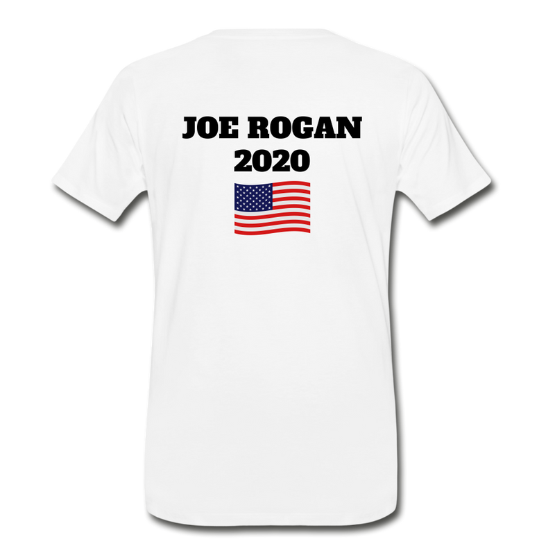 Joe Rogan Moderator Men's Premium T-Shirt - white