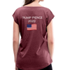 Law & Order Women's Roll Cuff T-Shirt - heather burgundy