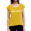 Law & Order Women's Roll Cuff T-Shirt - mustard yellow