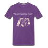 Keep Yapping Man Men's Premium T-Shirt - purple