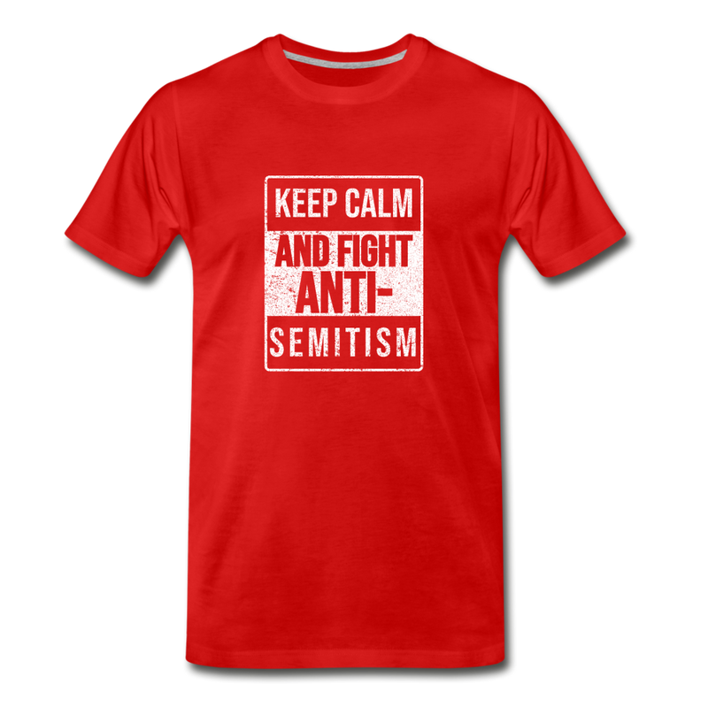 Fight Antisemitism Men's Premium T-Shirt - red