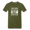 Fight Antisemitism Men's Premium T-Shirt - olive green