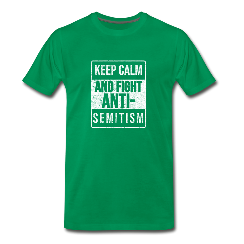 Fight Antisemitism Men's Premium T-Shirt - kelly green