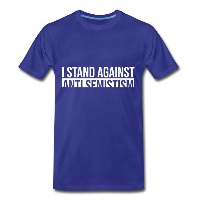 I Stand Against Anti-Semitism  Men's Premium T-Shirt - royal blue
