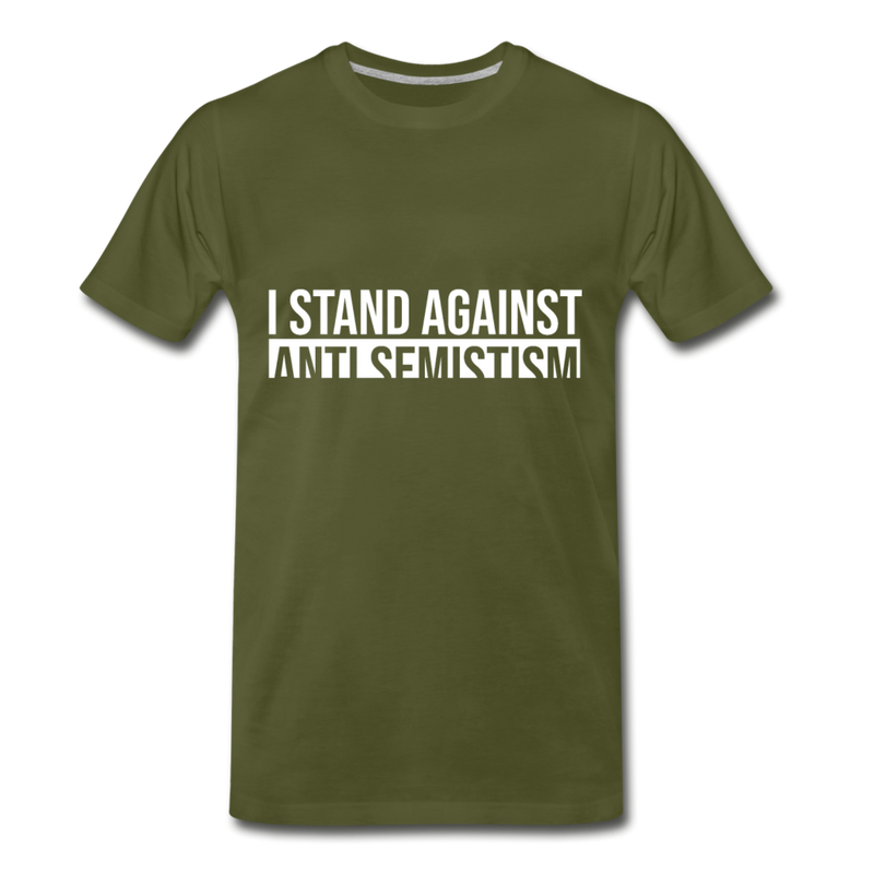 I Stand Against Anti-Semitism  Men's Premium T-Shirt - olive green