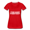 I Stand Against Anti-Semitism Women's Premium T-Shirt - red