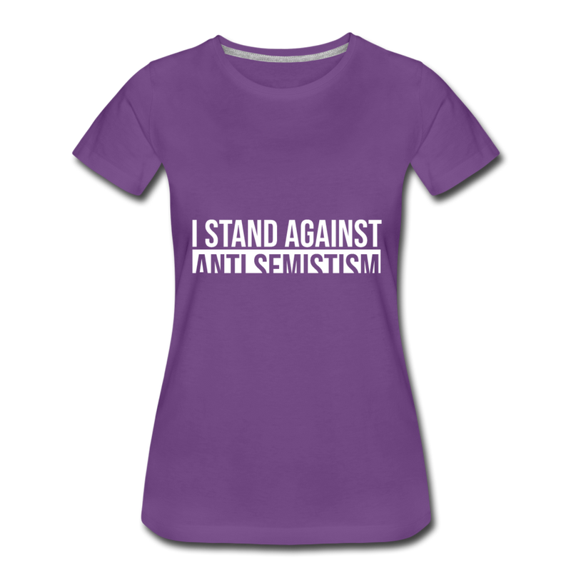 I Stand Against Anti-Semitism Women's Premium T-Shirt - purple