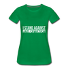 I Stand Against Anti-Semitism Women's Premium T-Shirt - kelly green
