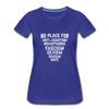 No Place For Hate Women's Premium T-Shirt - royal blue