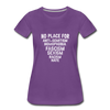 No Place For Hate Women's Premium T-Shirt - purple